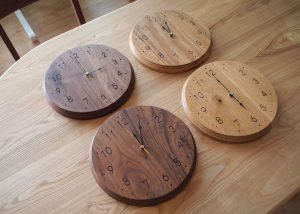 WOOD時計:Lサイズを制作しました。