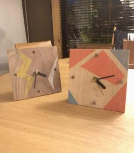 ワークショップ:世界で1つの「木の時計」作り