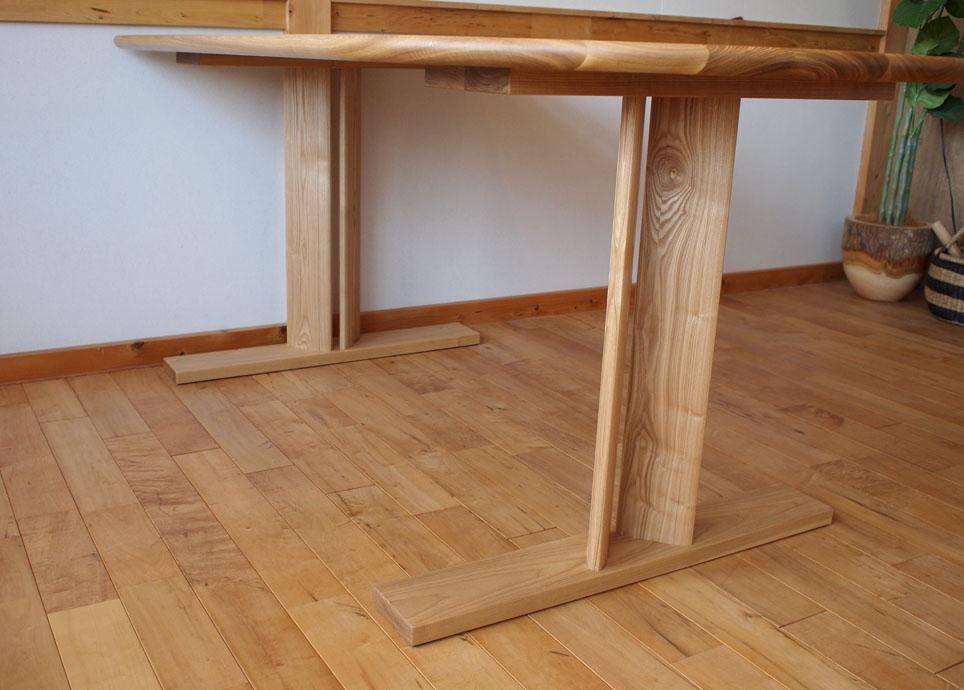 frit:ダイニングテーブル W1500(タモ/ワックス仕上げ)
